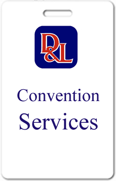 convention services badge